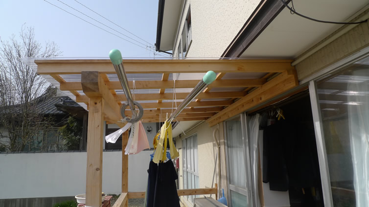 トタン屋根の設置